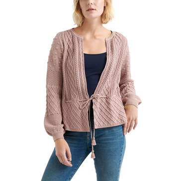 Lucky Women's Drawstring Waist Cardigan