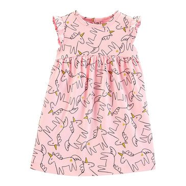 Carter's Baby Girls' Unicorn Outline Jersey Dress