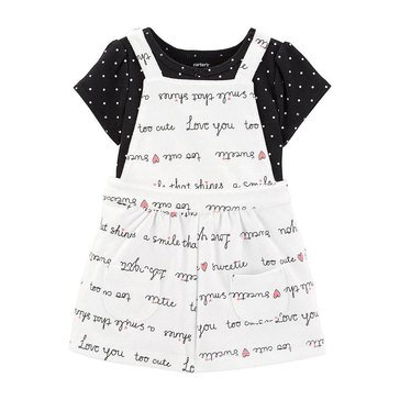 Carter's Baby Girls' 2-Piece Bodysuit Words Skirtall Set