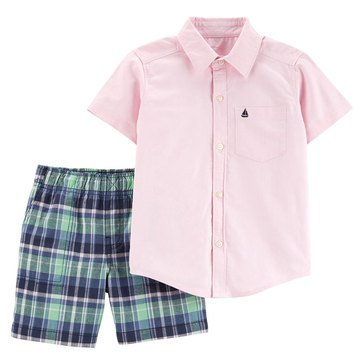 Carter's Baby Boys' 2-Piece Button Down Short Set