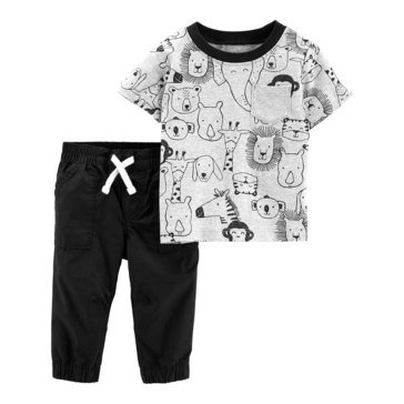 Carter's Baby Boys' 2-Piece Animal Pant Set