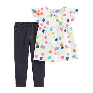 Carter's Baby Girls' 2-Piece Polka Dot Top and Jegging Set