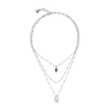 UNOde50 Dazzled Layered Necklace, Silver Plated