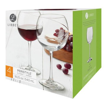 Libbey Peristyle Red Wine Glasses, Set of 4