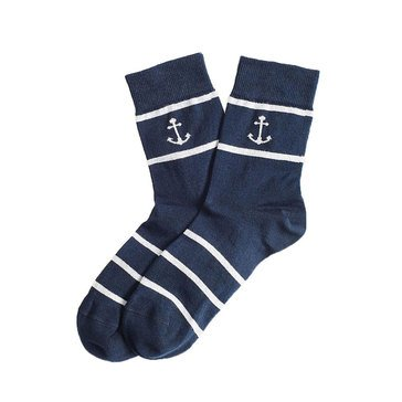 Brooks Brothers Women's Red Fleece Anchor Socks