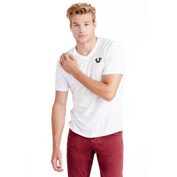 True Religion Men's True Classic Horseshoe Logo V-Neck Tee
