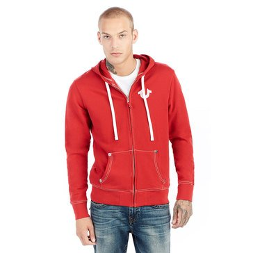 True Religion Men's True Classic Logo Zip Up French Terry Fleece Hoody