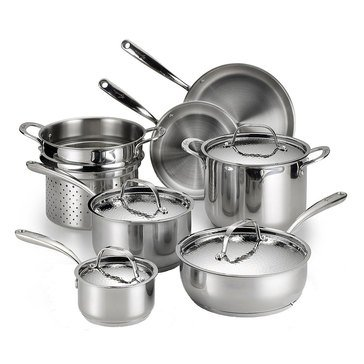 Lagostina Luminosa 11-Piece Stainless Steel Cookware Set