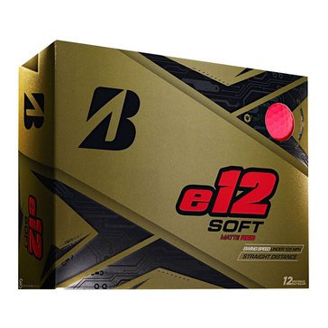 Bridgestone E-12 Soft Matte Red Golf Balls, 12-Pack