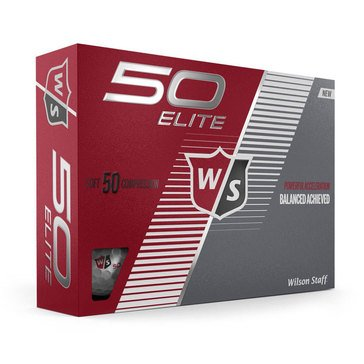 Wilson Fifty Elite White Golf Balls, 12-Pack