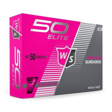 Wilson Fifty Elite Pink Golf Balls Pink, 12-Pack