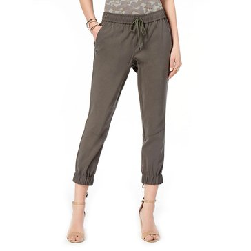 I.N.C. International Concepts Women's Bengaline Washed Lace Up Jogger