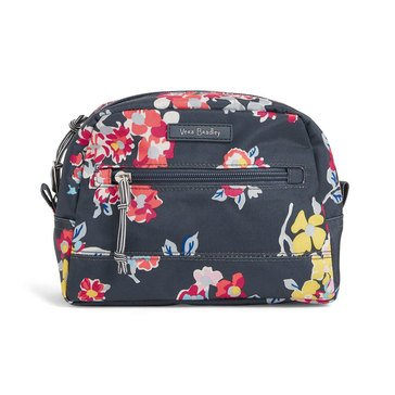 Vera Bradley Medium Cosmetic Lighten Up Tossed Posies