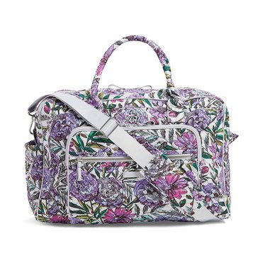 Vera Bradley Weekender Travel Bag Iconic Lavender Meadow