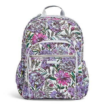 Vera Bradley Campus Backpack Iconic Lavender Meadow