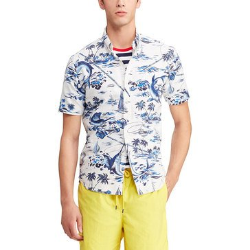 Polo Ralph Lauren Men's Oxford Printed Marlin Sport Shirt