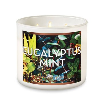 Bath & Body Works Gilded Garden Eucalyptus Mint 3-Wick Candle