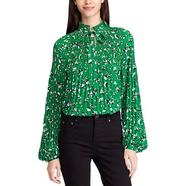 Lauren Ralph Lauren Women's Floral Pleat Front Blouse