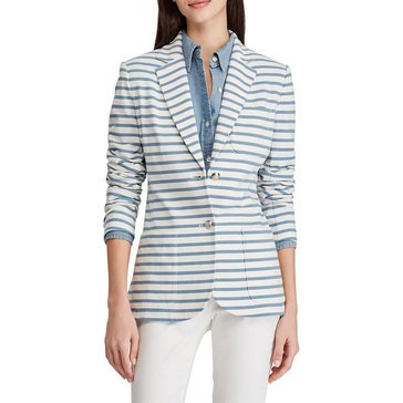 Lauren Ralph Lauren Women's Striped Knit Blazer