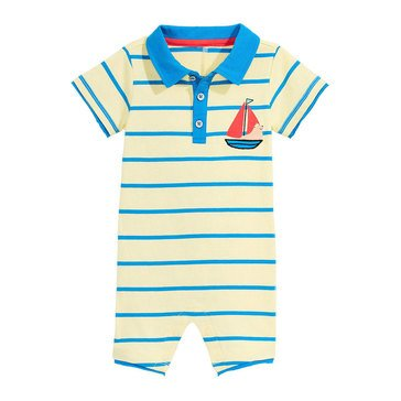 First Impressions Baby Boys' Sailing Bear Sunsuit