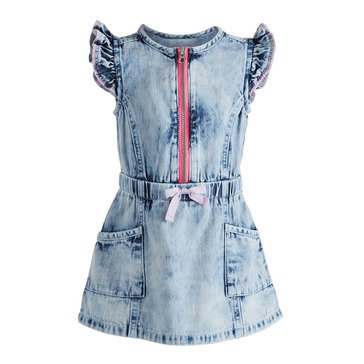 First Impressions Baby Girls' Denim Zip Dress