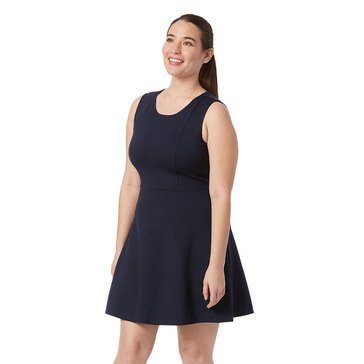 1.Storie Womens Ponte Fit And Flare Dress