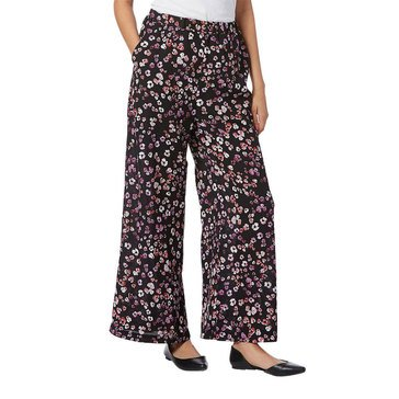 1.Storie Women's Printed Wide Leg Soft Pant