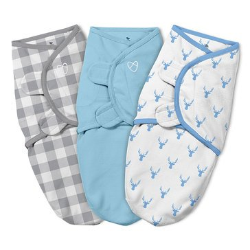Summer Infant Swaddleme Original 3-Pack, Oh Deer, Size S/M