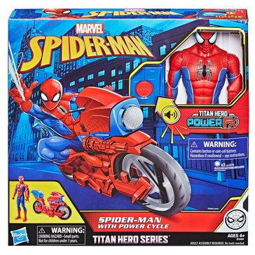 Titan Hero Series Spider-Man Figure with Power FX Cycle