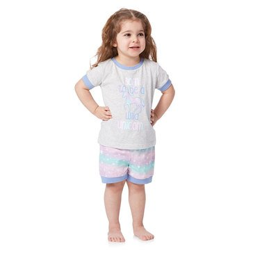 Jammers Toddler Girl's Born to Be a Wild Unicorn Pjs