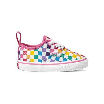 Vans Girls Authentic Elastic Lace Checkerboard Sneaker (Little Kid/Youth)