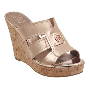 Guess Women's Eadran Wedge Cork Sandal