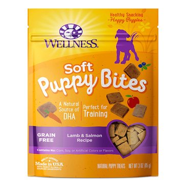 Wellness Soft Puppy 3 oz.Lamb & Salmon Bites