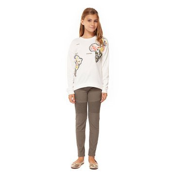 Dex Big Girls' Embroidered French Terry Top