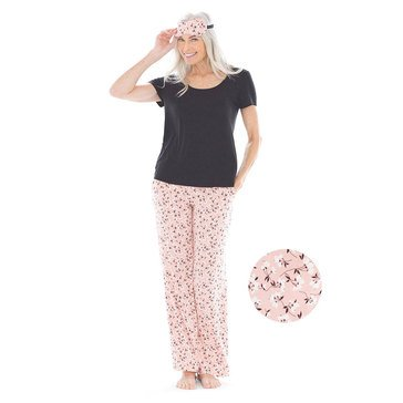 Soma Women's Cool Nights Pj's with Eye Mask