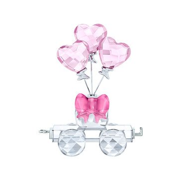 Swarovski Crystal Living First Steps Heart Balloons Wagon