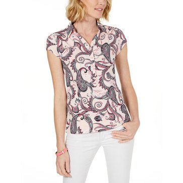 Charter Club Women's Paisley Printed Polo