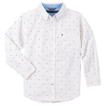 Tommy Big Boys' Fred Long Sleeve Flag Woven