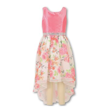 Speechless Big Girls' Floral Mesh Easter Dress