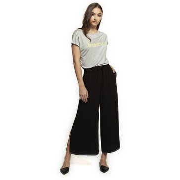Dex Women's Solid Culottes With Contrast Stitching