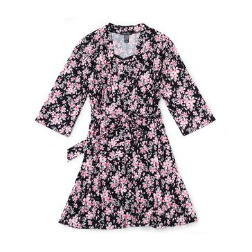 Rene Rofe Women's 2-Piece Floral Robe and Chemise Set in Plus Sizing
