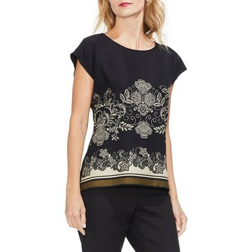 Vince Camuto Women's Ornate Paisley Top