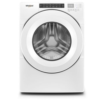 Whirlpool 4.3-Cu.Ft. Closet Depth Front Load Washer, White (WFW560CHW)