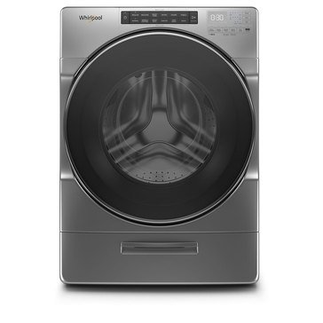 Whirlpool 4.5-Cu.Ft. Closet-Depth Front Load Washer, Chrome Shadow (WFW6620HC)