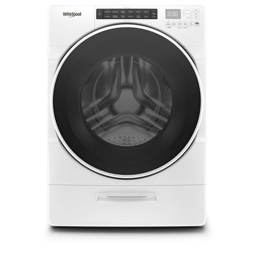 Whirlpool 4.5-Cu.Ft. Closet-Depth Front Load Washer, White (WFW6620HW)