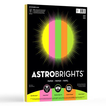 Neenah Astrobrights Neon Assortment 24lb 100 Sheets Paper