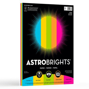 Neenah Astrobrights Bright Assortment 24lb 100 Sheets Paper