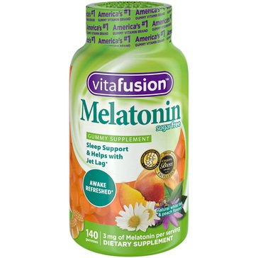 Vitafusion Melatonin Gummies Natural White Tea Peach 140ct