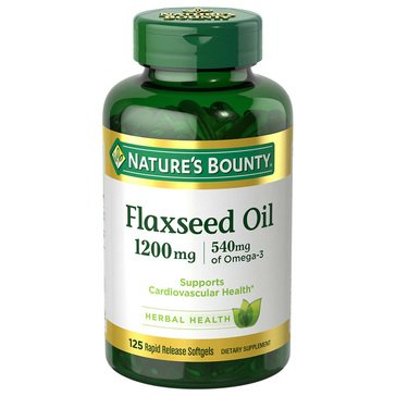 Nature's Bounty Flaxseed Oil 1200 MG Rapid Release 125 Softgels