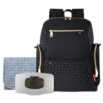 Fisher Price Fashion Diaper Backpack with Gold Zippers